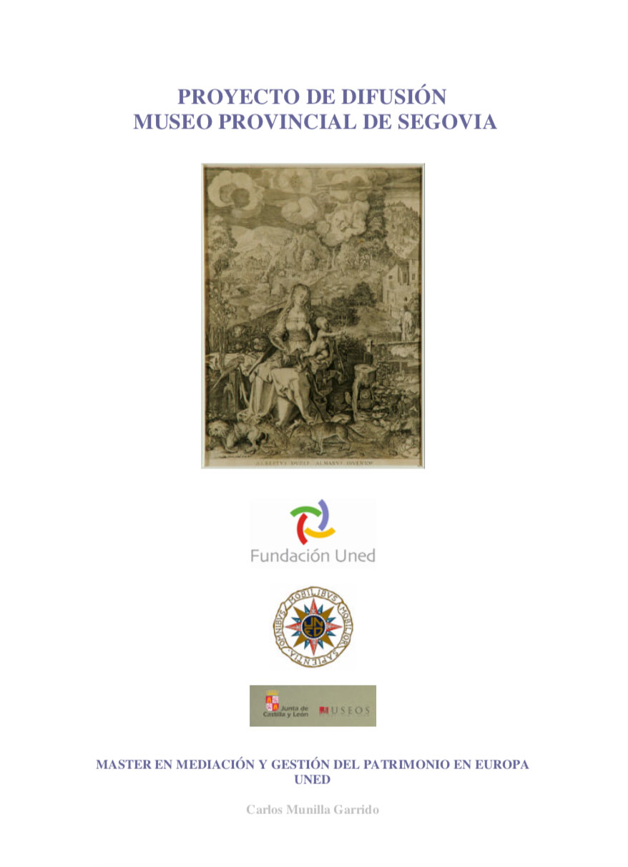 Proyecto difusión museo provincial