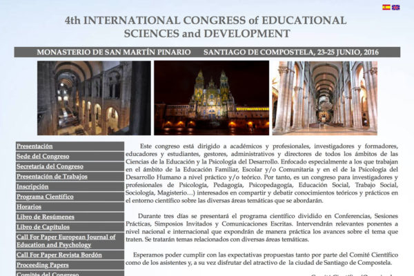 4th International Congress of EducationalSciences and Development